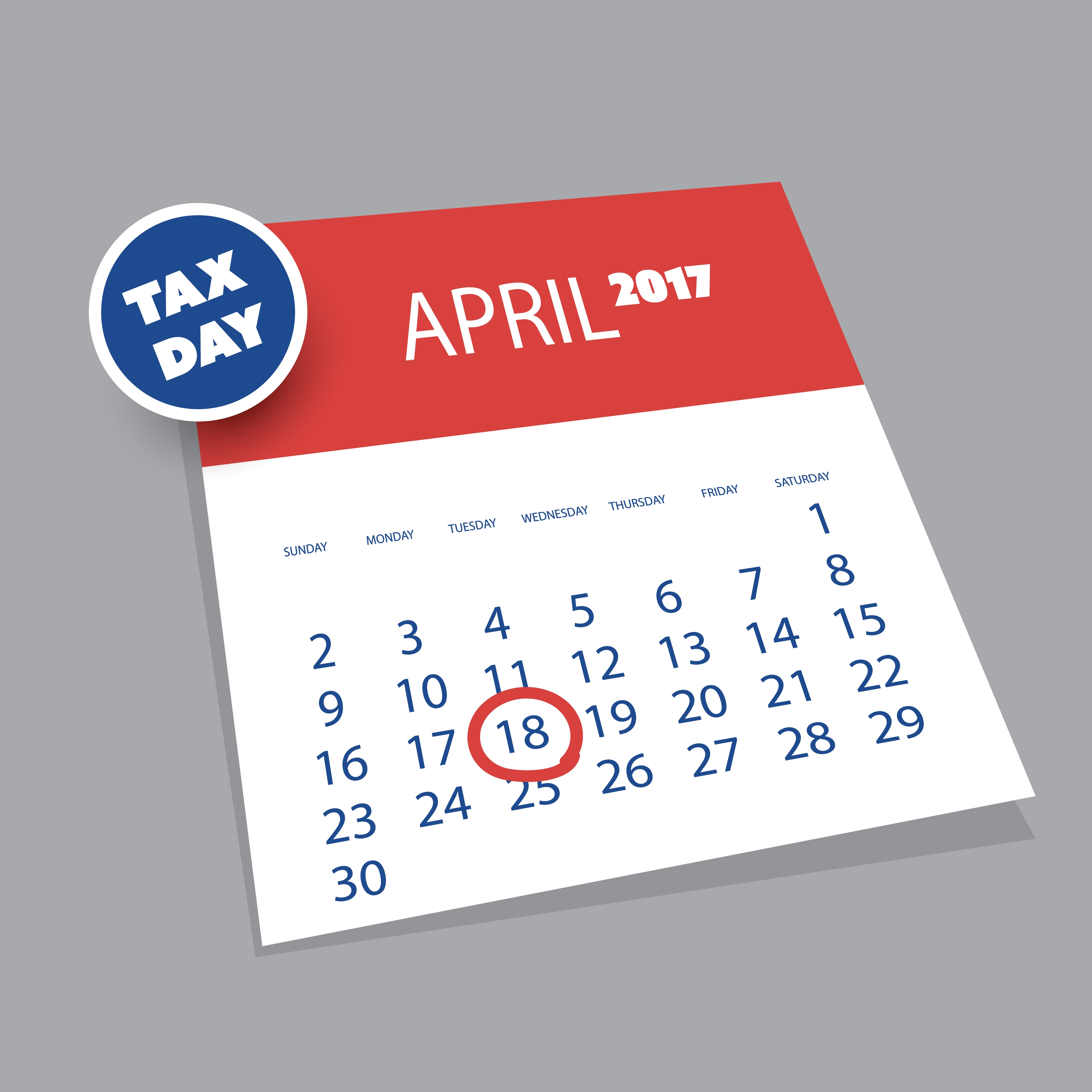 Tax Day Tuesday April 18